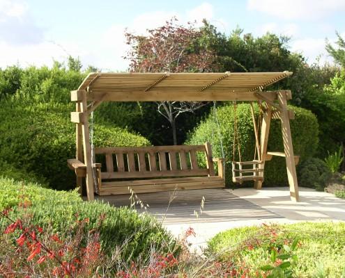 נדנדת עץ בייבי פלוס מושב זוגי להורים